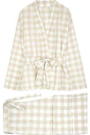 General Sleep Gingham cotton pyjama set
