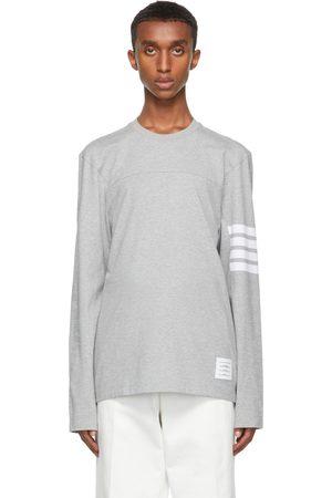 Thom Browne Grey Engineered 4-Bar Long Sleeve T-Shirt