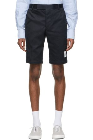 Thom Browne Men Shorts - Navy Twill Unconstructed Chino Shorts