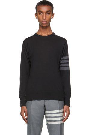 Thom Browne Navy Merino Wool 4-Bar Sweater