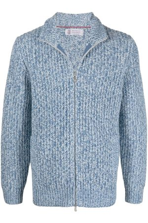 Brunello Cucinelli Men Cardigans - Chunky knitted cardigan