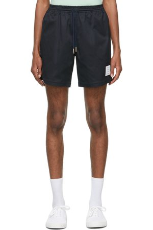 Thom Browne Men Shorts - Navy Drawcord Rugby Shorts