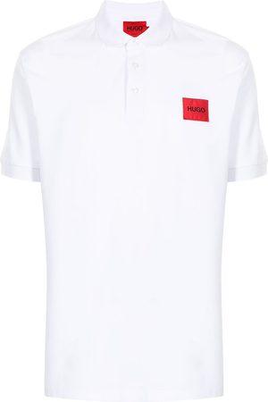 HUGO BOSS Men Polo Shirts - Logo-patch cotton polo shirt