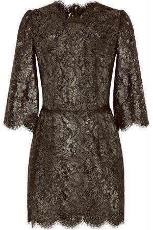 Dolce & Gabbana Floral-lace sheer minidress