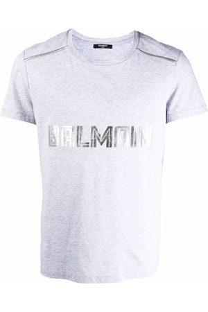 Balmain Men Short Sleeve - Logo-print short-sleeve T-shirt - Grey