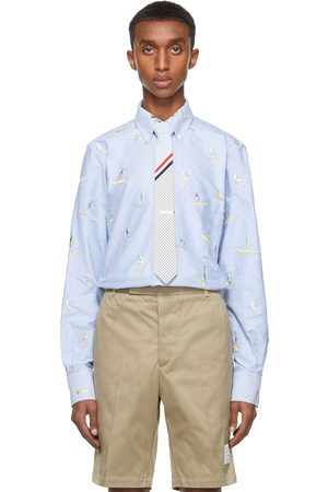 Thom Browne Blue Surfer Icon Classic-Fit Shirt