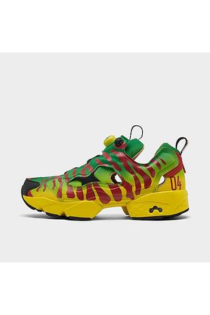 Reebok Men Casual Shoes - Men's Jurassic Park Instapump Fury OG Casual Shoes in /Goal Size 8.0 Leather