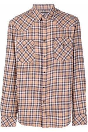 Diesel Men Shirts - Check-print shirt - Neutrals