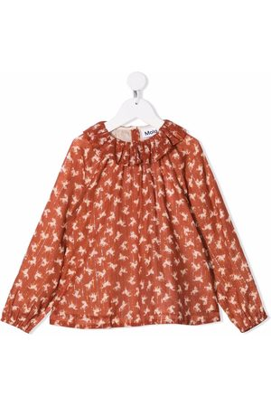Molo Girls Blouses - Horse-print blouse
