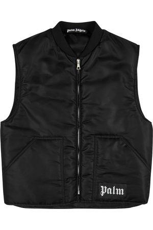 Palm Angels Men Puffer Jackets - Logo padded shell gilet