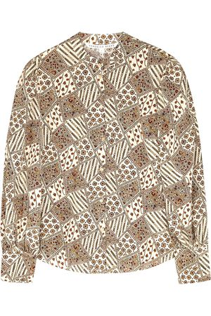 VERONICA BEARD Suvi printed stretch-silk blouse