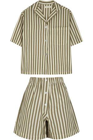 General Sleep Camilla striped cotton pyjama set