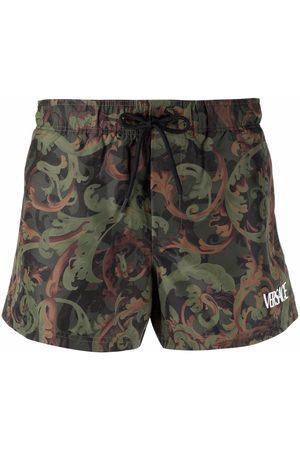 VERSACE Baroque-print swim shorts