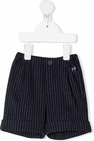 Il gufo Bermudas - Striped cotton bermuda shorts