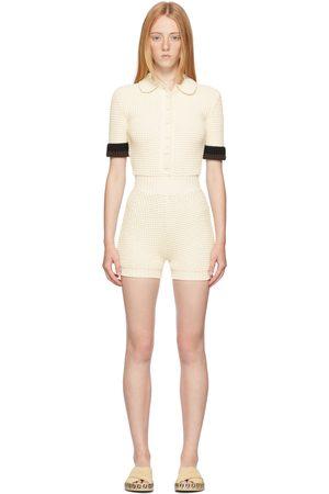 Fendi Women Jumpsuits - Off-White Knit Jumpsuit