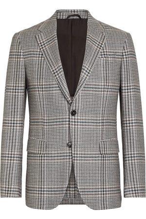 Ermenegildo Zegna Men Blazers - Checked single-breasted blazer