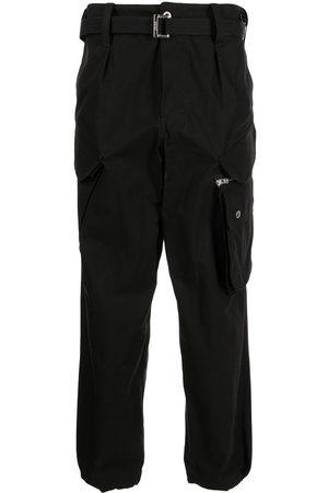 SACAI Men Cargo Pants - Belted-waist cargo pants
