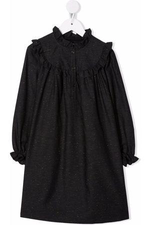 BONPOINT Girls Casual Dresses - Tish ruffle-trim dress - Grey