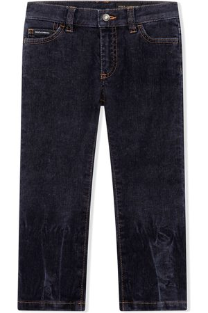 Dolce & Gabbana Boys Straight - Faded straight-leg jeans