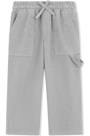 Dolce & Gabbana Boys Straight Leg Pants - Multi-pocket straight trousers - Grey