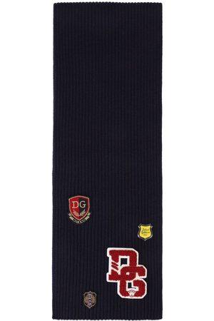 Dolce & Gabbana Patch-detail virgin wool scarf