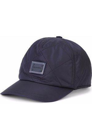 Dolce & Gabbana Boys Caps - Quilted logo-patch cap