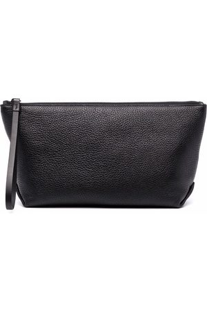 Maison Margiela Men Toiletry Bags - Pebbled-effect leather wash bag