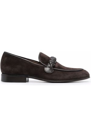 Gianvito Rossi Men Loafers - Massimo braid-embellished suede loafers
