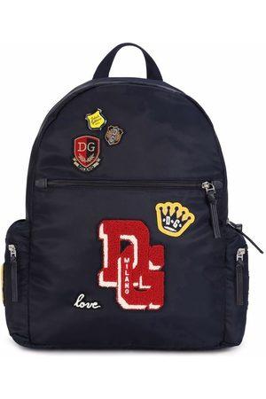 Dolce & Gabbana Girls Rucksacks - Patch-detail backpack