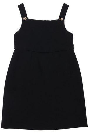 Dolce & Gabbana Girls Dresses - Logo Sleeveless Viscose Blend Dress