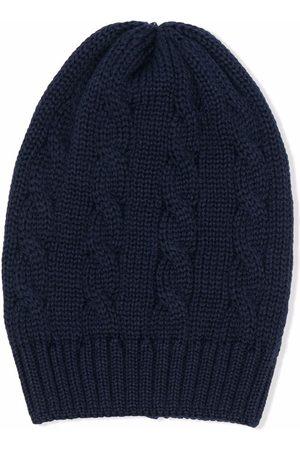 LITTLE BEAR Beanies - Cable-knit wool beanie