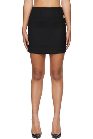 Dolce & Gabbana Women Skirts - Black Crêpe Logo Skirt