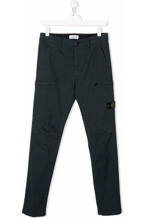 Stone Island TEEN compass badge cargo trousers