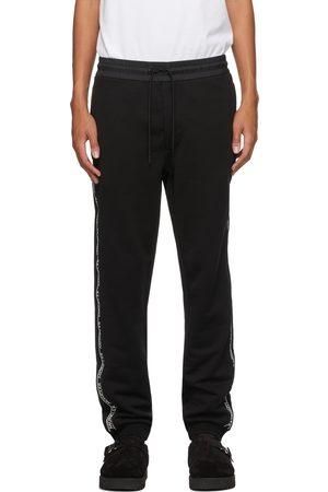 Moncler Men Sweats - Black Logo Bonded Lounge Pants