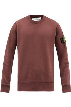 Stone Island Logo-patch Cotton-jersey Sweatshirt - Mens