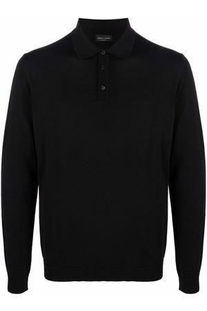 Roberto Collina Men Polo Shirts - Long-sleeved merino polo shirt