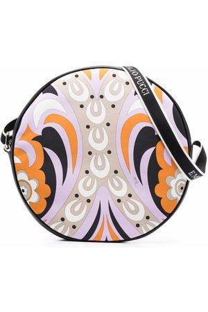 Emilio Pucci Girls Bags - Circular leather shoulder bag