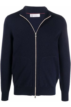 Brunello Cucinelli Men Cardigans - Zip front cardigan