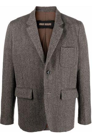 UMA WANG Men Blazers - Tailored wool blazer - Grey