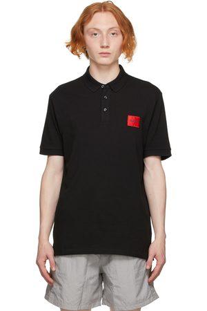 HUGO BOSS Men Polo Shirts - Black Piqué Dereso212 Polo
