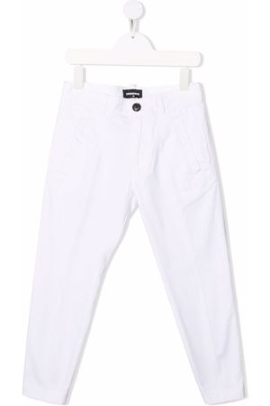 Dsquared2 Girls Straight Leg Pants - Logo-print straight-leg trousers