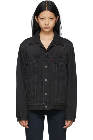 Levi's Women Denim Jackets - Grey Denim Vintage Fit Trucker Jacket