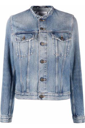 Maison Margiela Women Denim Jackets - Collarless denim jacket