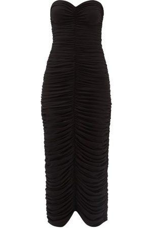 Norma Kamali Women Sleeveless Dresses - Sweetheart-neckline Sleeveless Midi Dress - Womens