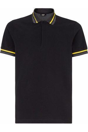 Fendi Striped-trim polo shirt