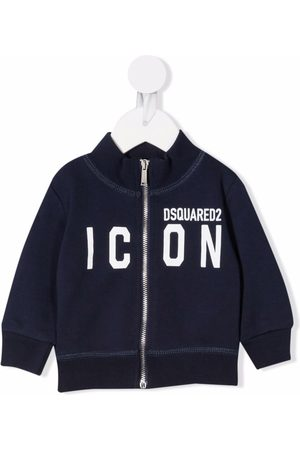 Dsquared2 Slogan-print zip-up sweatshirt