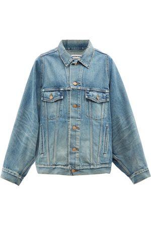 Balenciaga Women Denim Jackets - Oversized Denim Jacket - Womens - Light Denim