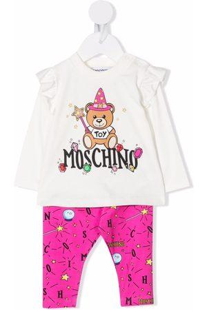 Moschino Sets - Logo-print cotton tracksuit set