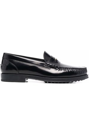 Tod's Men Loafers - Logo plaque leather loafers