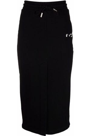 OFF-WHITE Women Printed Skirts - Logo-print pencil skirt